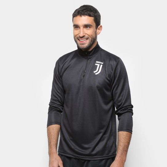 Blusa Juventus Heavy Basic Masculina - Preto