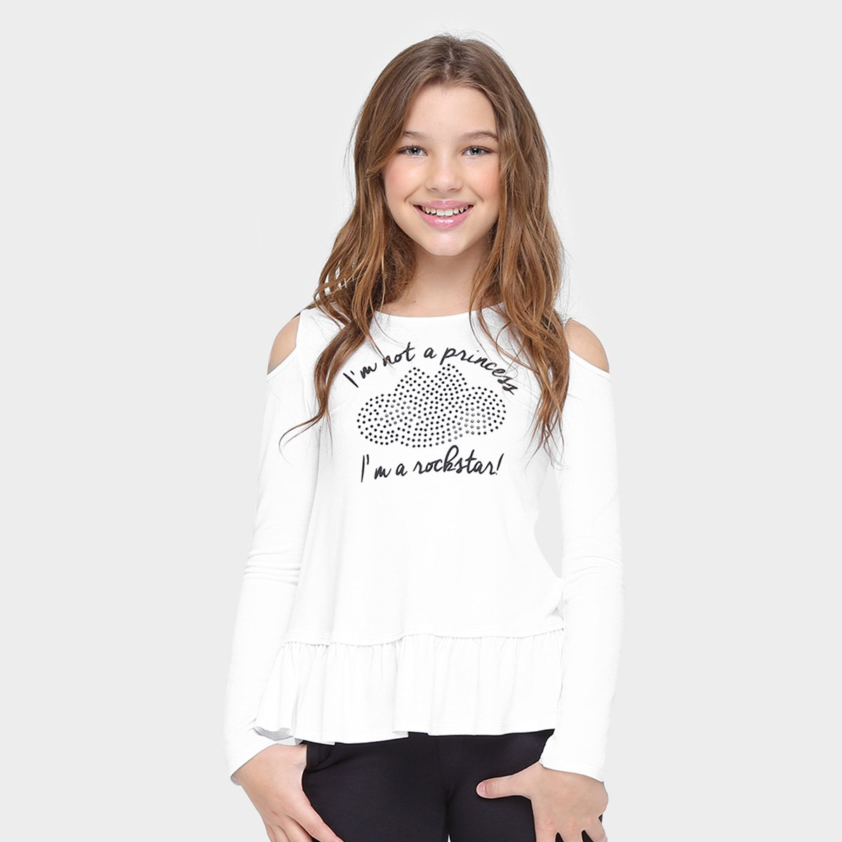 Blusa Infantil Lilica Ripilica Estampada Blusa Estampada Branco Infantil Lilica Ripilica Branco wpwfOq