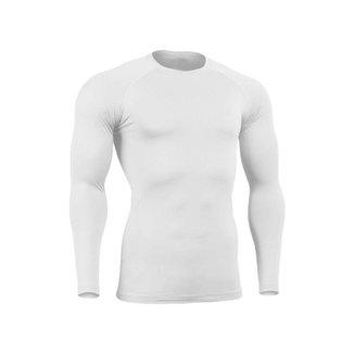 Blusa Masculina Proteção UV Segunda Pele Térmica Poliéster Manga Longa Compressão
