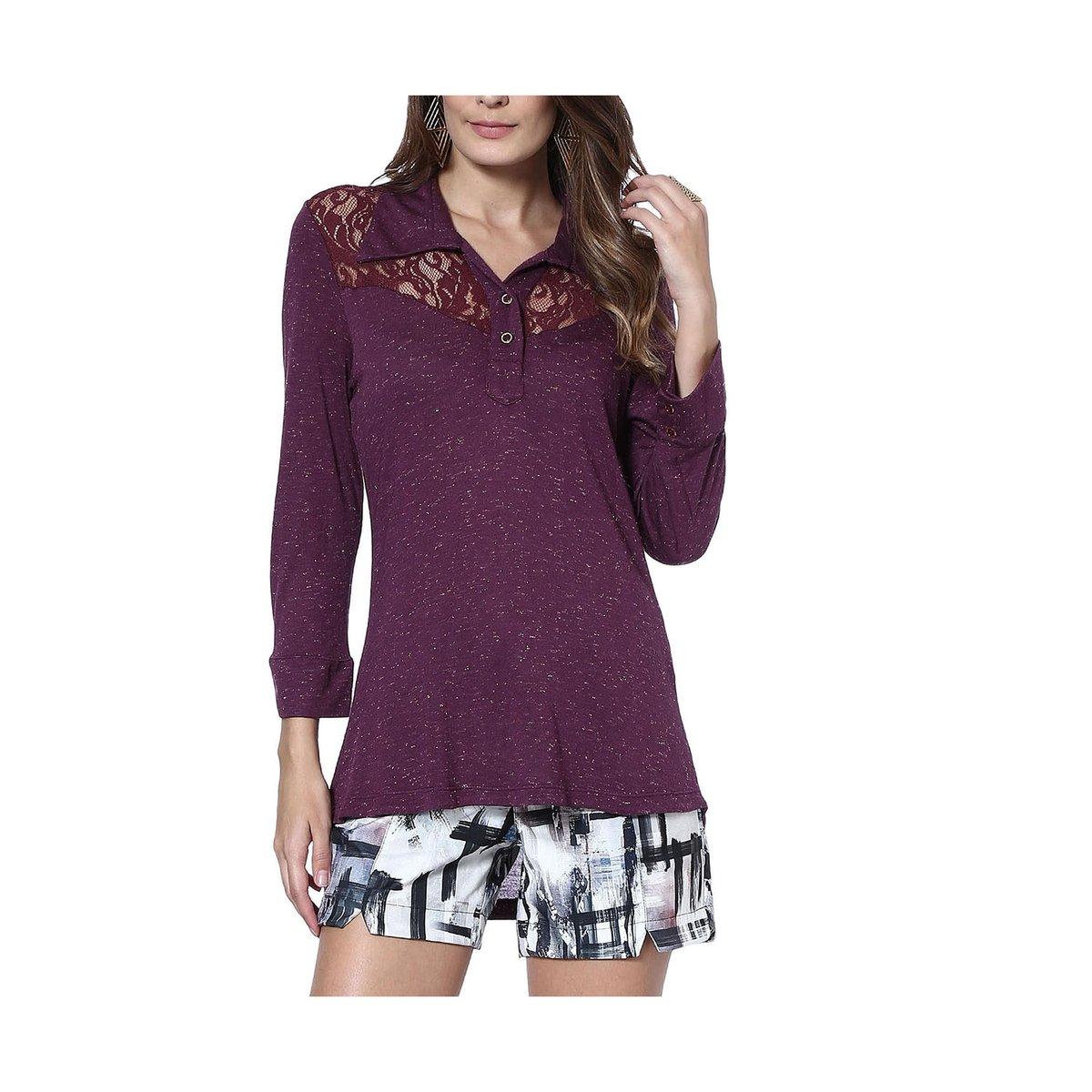 Blusa Moché gola camisa - Compre Agora  acbf3af9e26