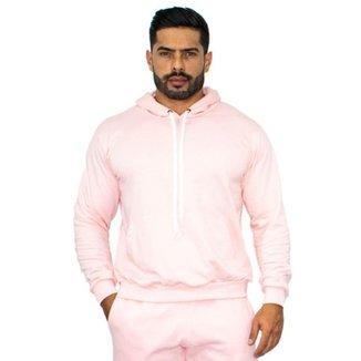 Blusa Moletinho Masculino Capuz Canguru Conforto Dia a Dia