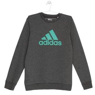Blusa Moletom Adidas Essentials Crew Infantil - G