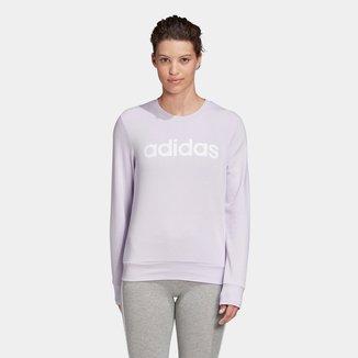 Blusa Moletom Adidas Essentials Linear Feminina