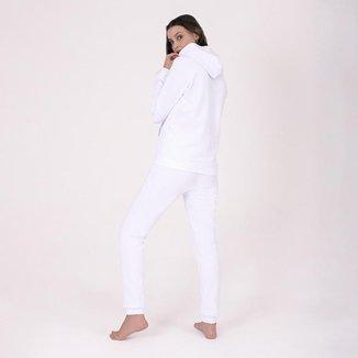 Blusa Moletom Basicamente Tradicional Capuz Bolso Feminina