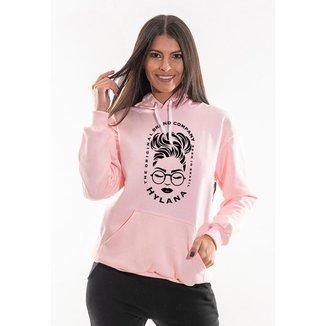 Blusa Moletom Canguru Feminino Com Capuz Ajustavel