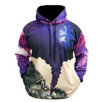 Blusa Moletom Canguru Masculino Full 3d Galaxia R 002