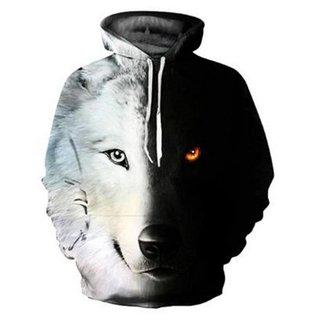 Blusa Moletom Canguru Masculino Full 3d Lobo R 020