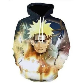 Blusa Moletom Canguru Masculino Full Naruto R 055