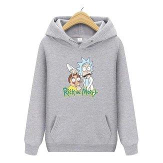 Blusa Moletom Canguru Rick And Morty em Algodão Unissex