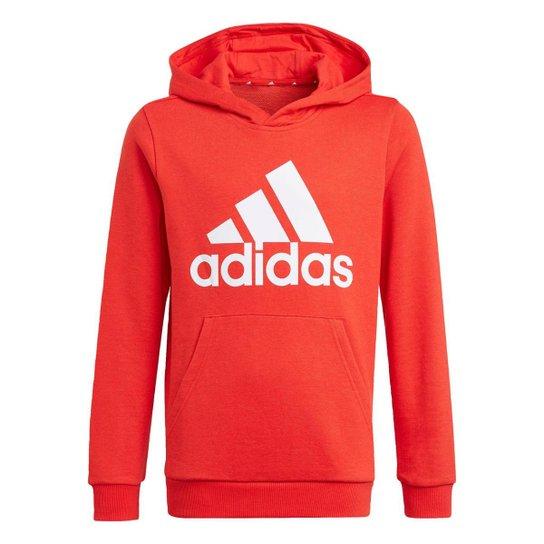 Blusa Moletom Capuz adidas Essentials Adidas - Vermelho