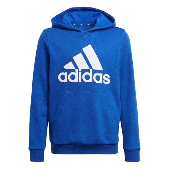 Blusa Moletom Capuz adidas Essentials Adidas - Azul+Branco