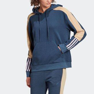 Blusa Moletom Capuz adidas Essentials Logo Colorblock Adidas