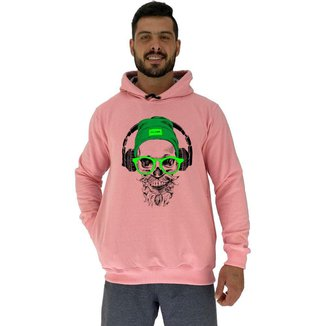 Blusa Moletom Com Touca MXD Conceito Caveira De Headset Masculina