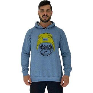 Blusa Moletom Com Touca MXD Conceito Pug It's Cool Masculina