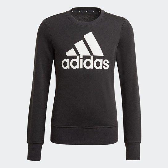 Blusa Moletom Essentials Adidas - Preto