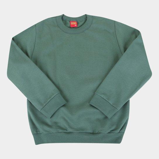 Blusa Moletom Juvenil Kyly  Peluciado Básico - Verde