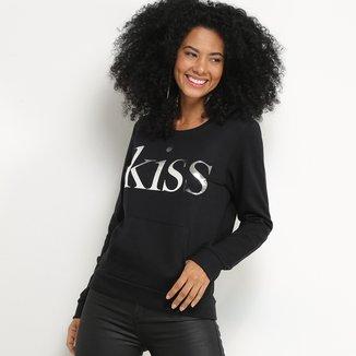 Blusa Moletom Malwee Kiss Feminina