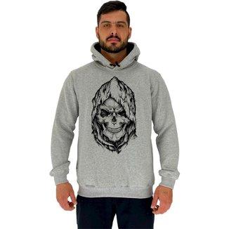 Blusa Moletom MXD Conceito Tradicional Com Touca Dead Skull Masculina