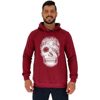 Blusa Moletom MXD Conceito Tradicional Com Touca Forest Skull Masculina