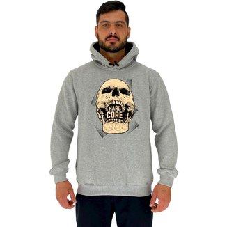 Blusa Moletom MXD Conceito Tradicional Com Touca Hardcore Skull Masculina