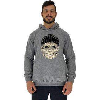 Blusa Moletom MXD Conceito Tradicional Com Touca Old Skull Masculina