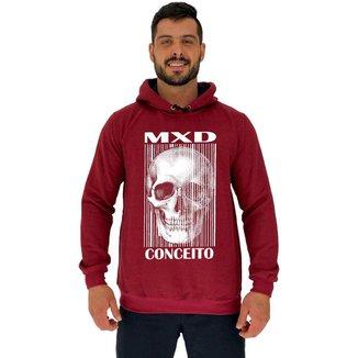 Blusa Moletom MXD Conceito Tradicional Com Touca Skull Masculina