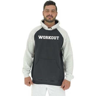 Blusa Moletom MXD Conceito Tradicional Com Touca Workout Masculina