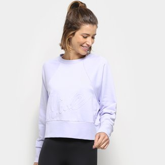 Blusa Moletom Nike Dy All In Lux Cr Embs Feminina