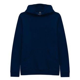 Blusa Moletom Plus Size Basicamente Tradicional Capuz Bolso Feminina
