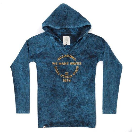 Blusa Moletom Pro Billabong - Azul