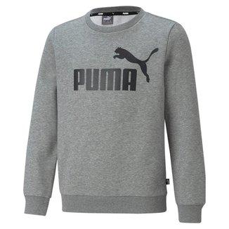 Blusa Moletom Puma Essentials Crew Neck Big Logo