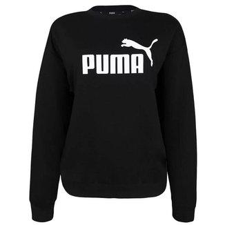 Blusa Moletom Puma Essentials Logo Crew Feminina