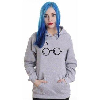 Blusa Moletom Ramazzoni Harry Potter Óculos Cicatriz Feminino
