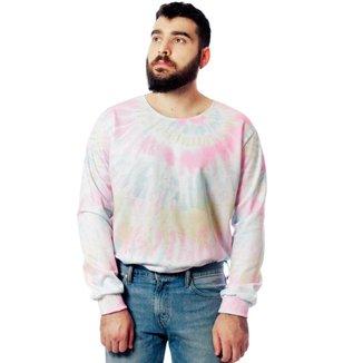 Blusa Moletom Tie Dye Estampado Elephunk Full Print Tonedown Masculina