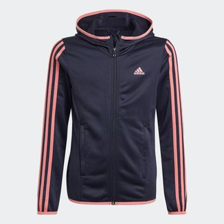 Blusa Moletom Zíper Capuz Designed To Move 3-Stripes Adidas