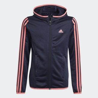 Blusa Moletom Zíper Capuz Designed To Move 3-Stripes Adidas