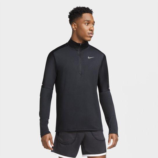 Blusa Nike Element Run Dri-Fit Masculina - Preto+Prata