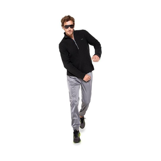 Blusa Olympikus Fleece Essential Masculina - Preto