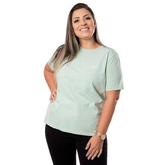 Blusa Plus Size Meia Malha com Bordado - Verde