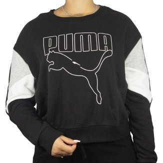 Blusa Puma Rebel Crew Feminino