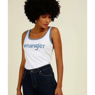 Blusa Regata Feminina Estampa Frontal Wrangler - 10046694577