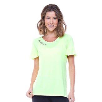 Blusa Rola Moça Ultracool Feminina - Amarelo/Cinza