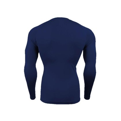 Blusa Térmica Segunda Pele Masculina Proteção UV Manga Longa Compressão