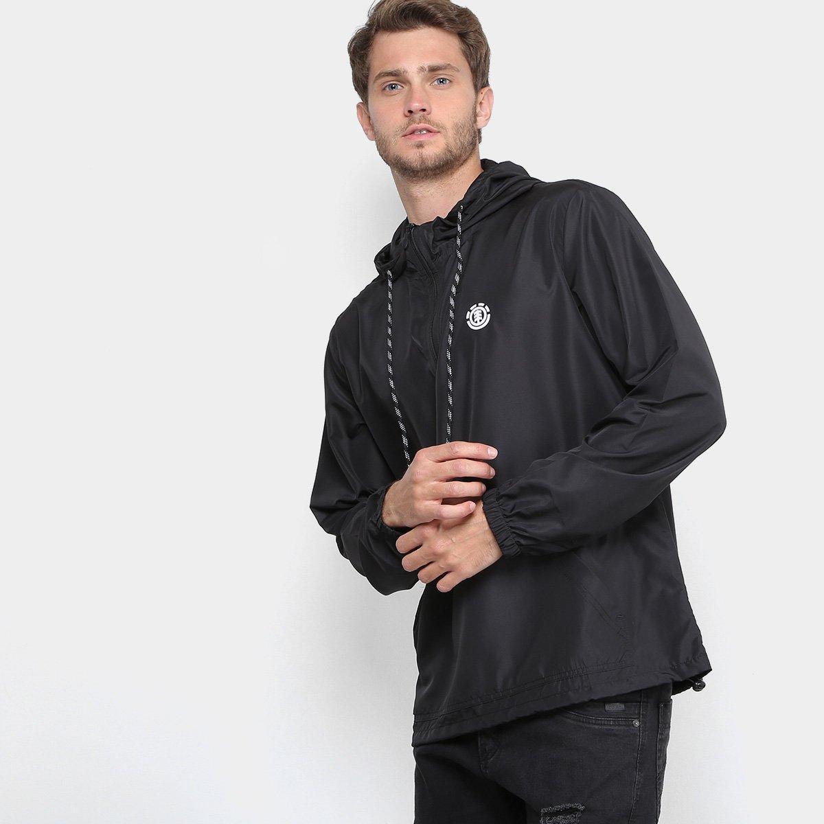 Blusão Corta-Vento Element Icon II Masculino - Preto - Compre Agora ... 65833791a21