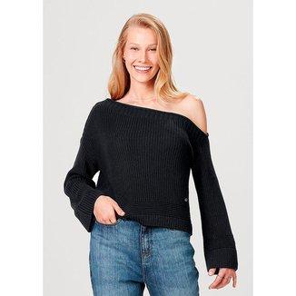 Blusão Em Tricô De Algodão E Modelagem Box Hering Feminino