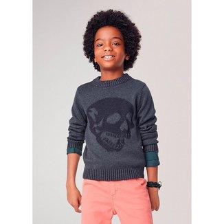 Blusão Infantil Hering Tricô Jacquard Masculino