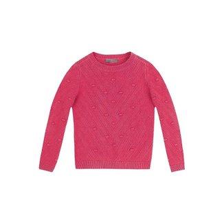 Blusão Infantil Hering Tricot Jacquard Feminina