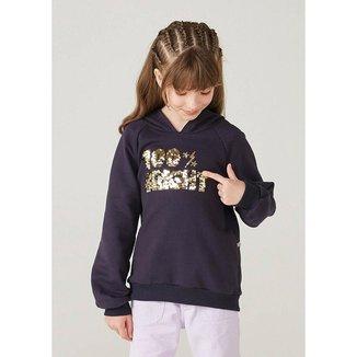 Blusão Infantil Menina Em Moletom Com Paetê Reversível - 54PBMD6EN2