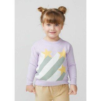 Blusão Infantil Menina Em Tricô Com Jacquard - KVZY1ASI4