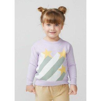 Blusão Infantil Menina Em Tricô Com Jacquard - KVZY1BSI2